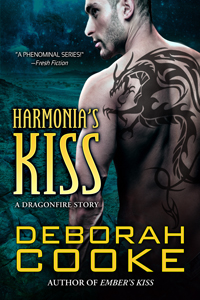 Harmonia's Kiss, #5 in the Dragonfire series of paranormal romances by Deborah Cooke