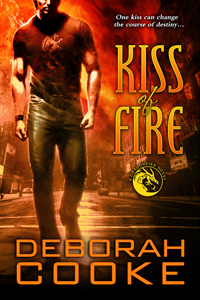 Kiss of Fire, book #1 of the Dragonfire Novels series of paranormal romances by Deborah Cooke
