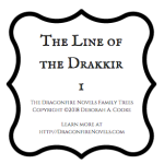 Dragonfire Family Trees for the paranormal romance series by Deborah Cooke