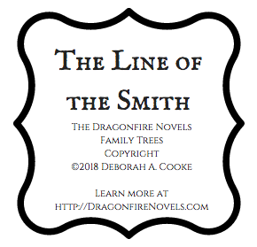 The Line of the Smith free downloadable family tree for the Dragonfire Novels by Deborah Cooke