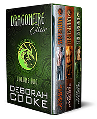 Dragonfire Elixir, the second Dragonfire digital bundle including Winter Kiss, Whisper Kiss and Darkfire Kiss of the Dragonfire Novels series of paranormal romances by Deborah Cooke