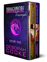 Dragonfire Triumph, the fourth Dragonfire digital bundle including Serpent's Kiss and Firestorm Forever of the Dragonfire Novels series of paranormal romances by Deborah Cooke