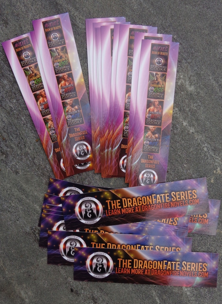 Bookmarks for the DragonFate series of paranormal romances by Deborah Cooke