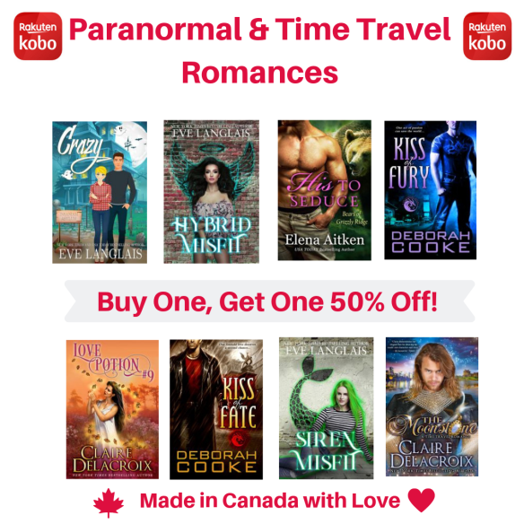 paranormal romance featured in Kobo's Made in Canada with Love sale June 2019