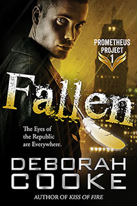 Fallen, an urban fantasy romance featuring a fallen angel hero and book one of the Prometheus Project by Deborah Cooke