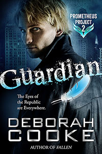 Guardian, an urban fantasy romance featuring a fallen angel hero and book two of the Prometheus Project by Deborah Cooke
