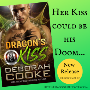 Dragon's Kiss, book two of the DragonFate series of paranormal romances by Deborah Cooke