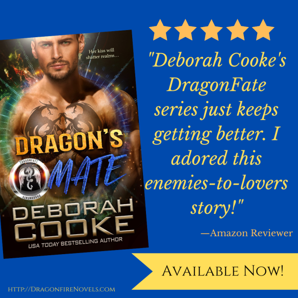 New Five Star review for Dragon's Mate, book four of the DragonFate series of paranormal romances by Deborah Cooke