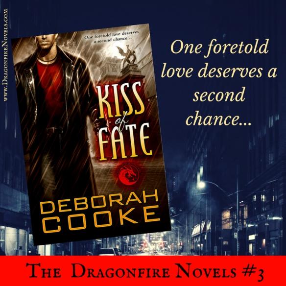 Kiss of Fate, book three of the Dragonfire novels series of paranormal romances by Deborah Cooke