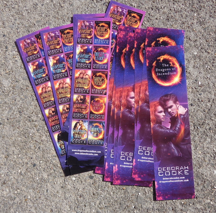 Bookmarks for the Dragons of Incendium series of science fiction romances by Deborah Cooke