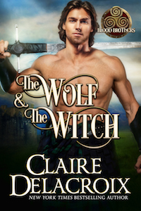The Wolf and the Witch, book one of the Blood Brothers series of medieval Scottish romances by Claire Delacroix