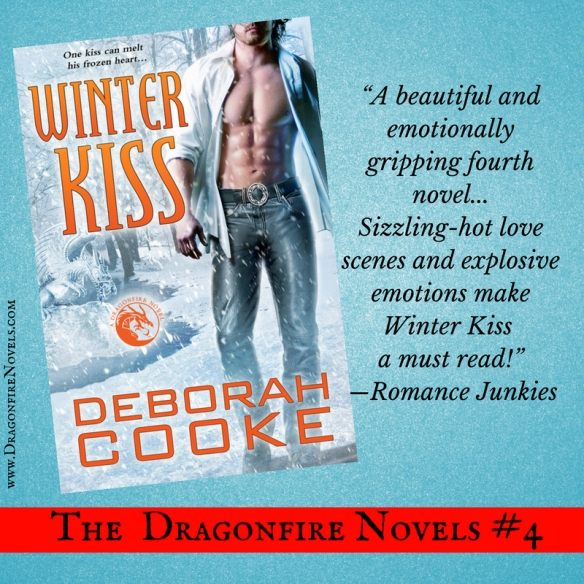 Winter Kiss, book four of the Dragonfire novels series of paranormal romances by Deborah Cooke